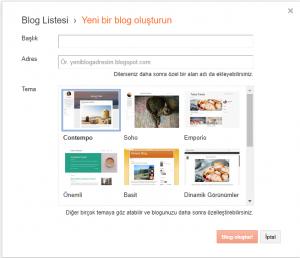 Blogger Blog Kurulumu Resimli Anlatım